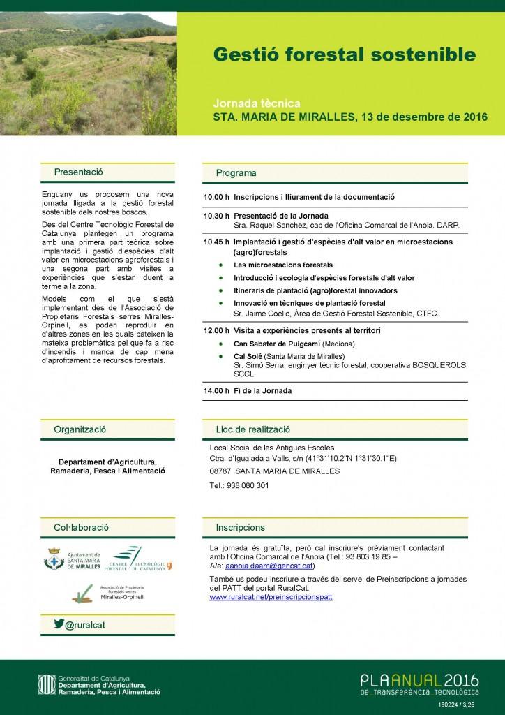 Gestió forestal sostenible, jornada tècnica a Santa Maria de Miralles, el 13 de desembre @ Santa Maria de Miralles | Santa Maria de Miralles | Catalunya | España