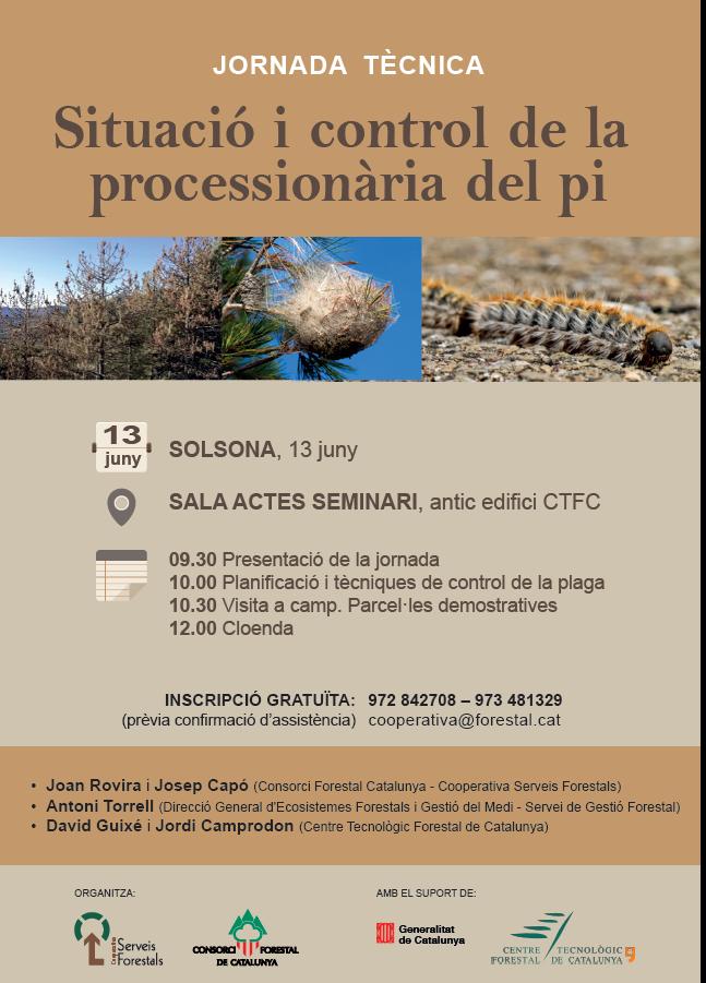 """Jornada tècnica a Solsona: """"Situació i control de la processionària del pi"""""""
